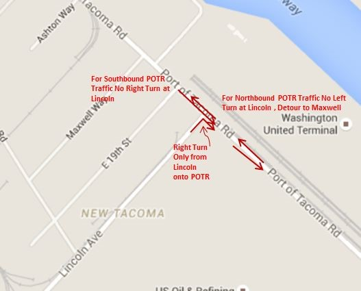 Traffic Map Tacoma.Traffic Revision Starts 4 P M Monday Aug 31 Port Of Tacoma